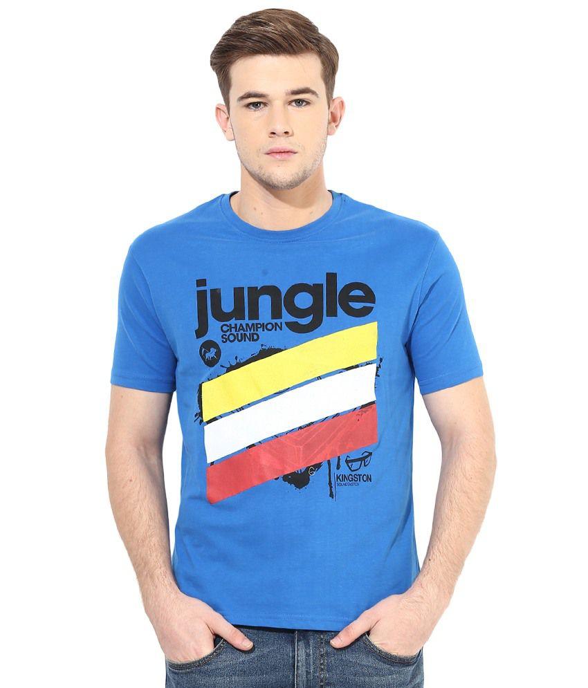 Cayman Blue Men's Printed T-Shirt