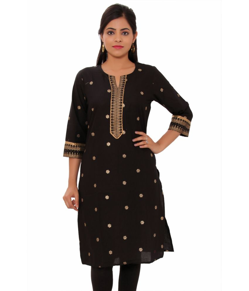 Pezzava Black Cotton Kurti