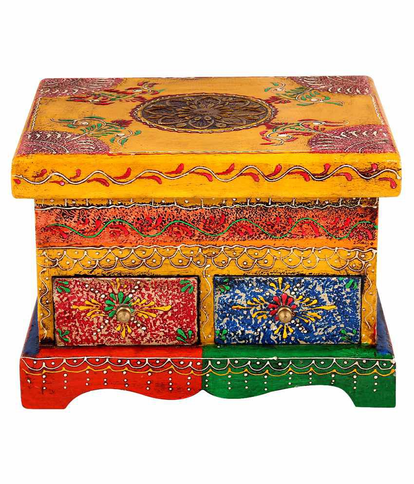 Rajrang Yellow Wooden Handicraft