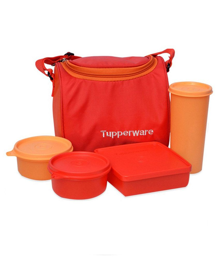 tupperware multicolor lunch set buy online at best price in india snapdeal. Black Bedroom Furniture Sets. Home Design Ideas