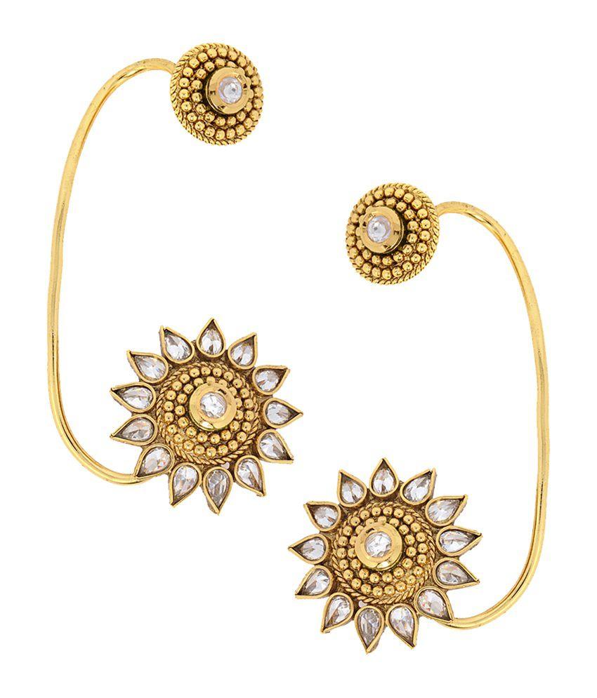Alankruthi Golden Karnataka Ear Cuffs