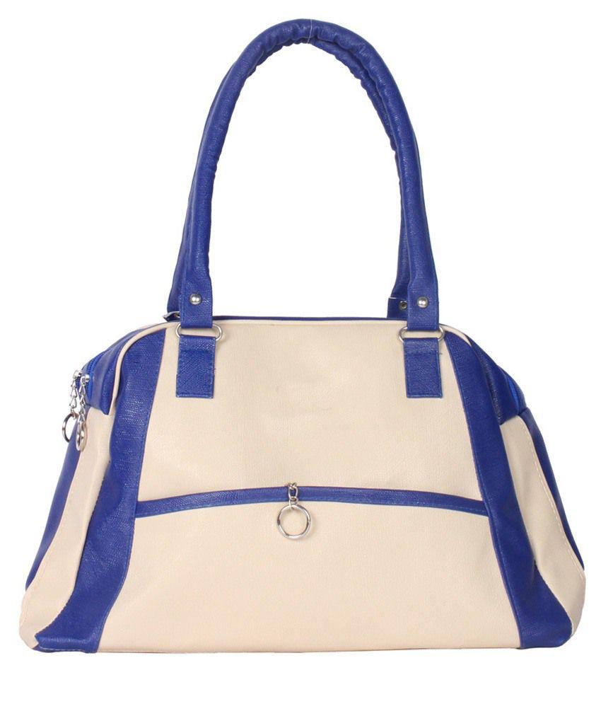 Greentree Shoulder Bag-White & Blue