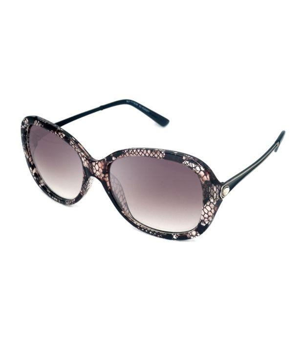 Macv Eyewear Brown Oval Sunglasses