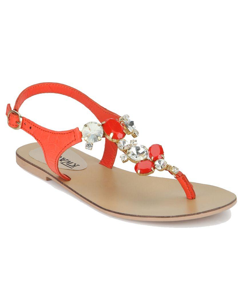 Kwacha Orange Sandals
