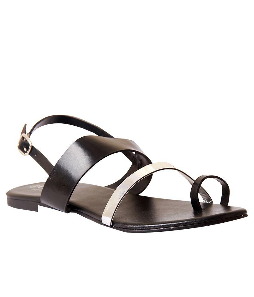 CAI Black Sandals