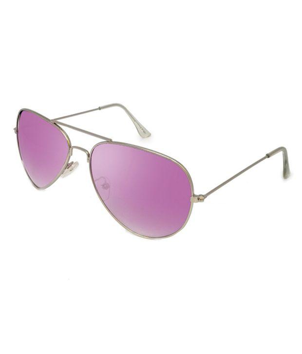 Macv Eyewear Purple Aviator Sunglasses