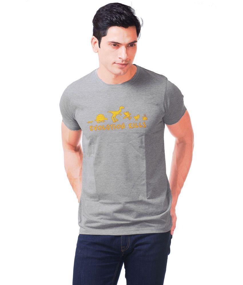 Purple Haze Clothing Grey Cotton T Shirt