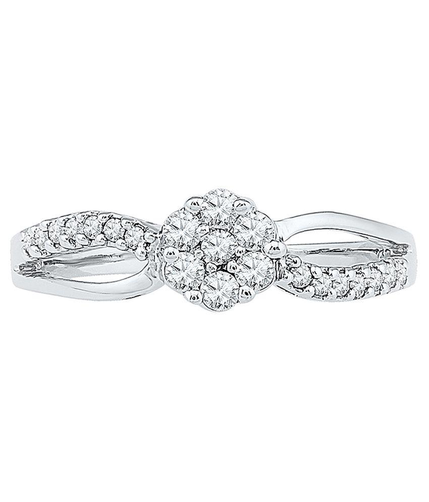 Radiant Bay 14Kt White and Gold (Diamond Quality VVS-GH) Ring