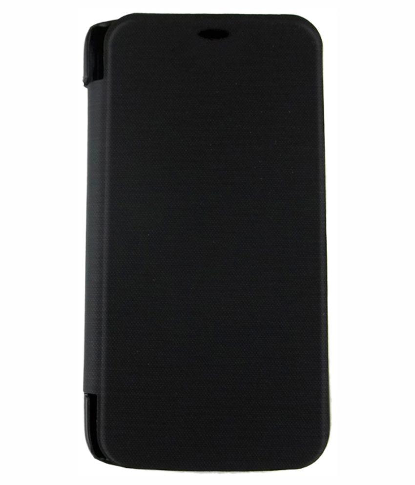 Srp Flip Cover For Micromax Canvas Turbo Mini A200 - Black