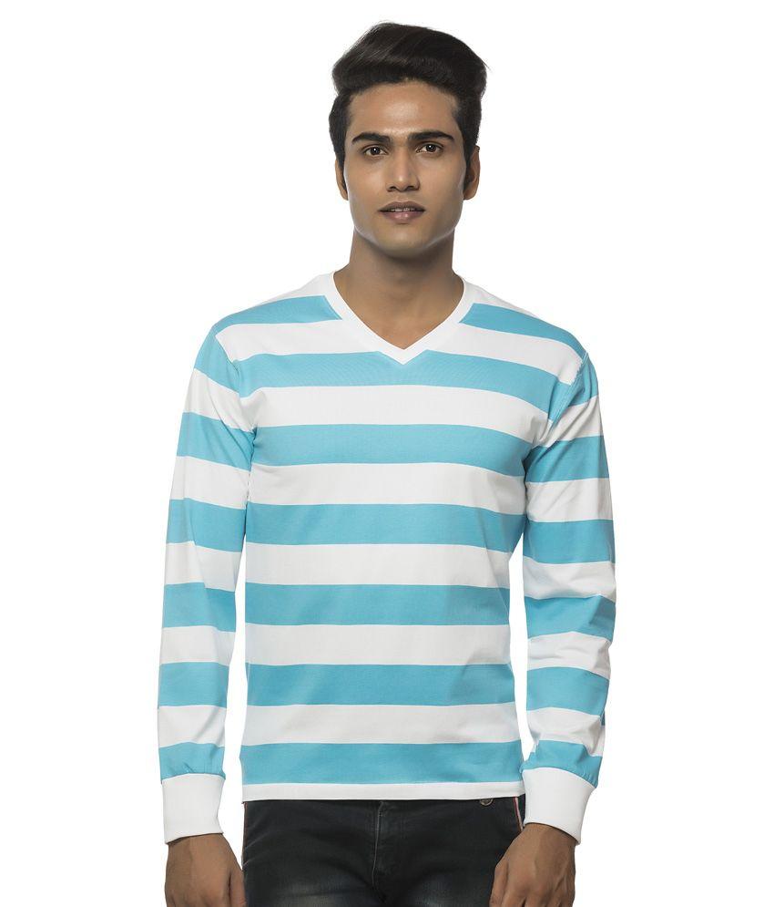 Clifton Blue Cotton T Shirt
