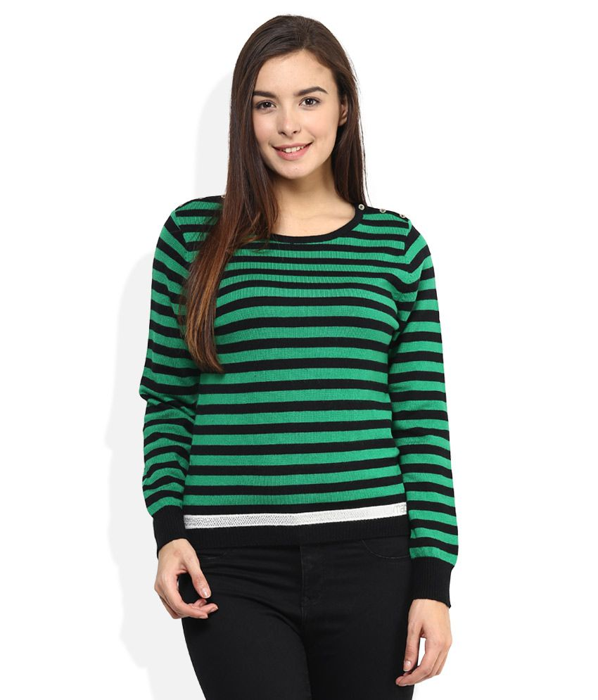 e3cb32a98c5 Buy Madame Green Round Neck Sweater Online at Best Prices in India -  Snapdeal