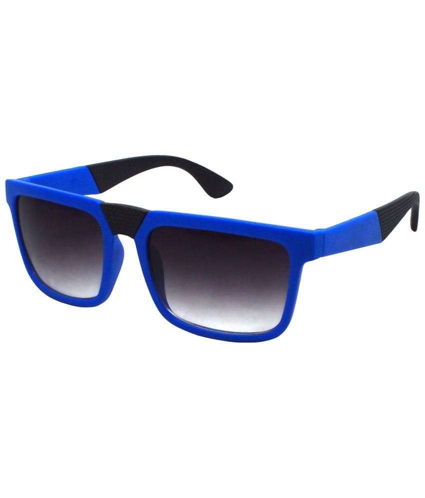 Red Knot Blue & Black Unisex Rectangular Sunglasses