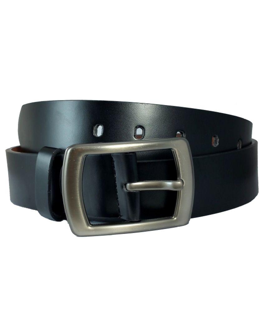 Ammvi Creations Black PU Leather Belt For Men