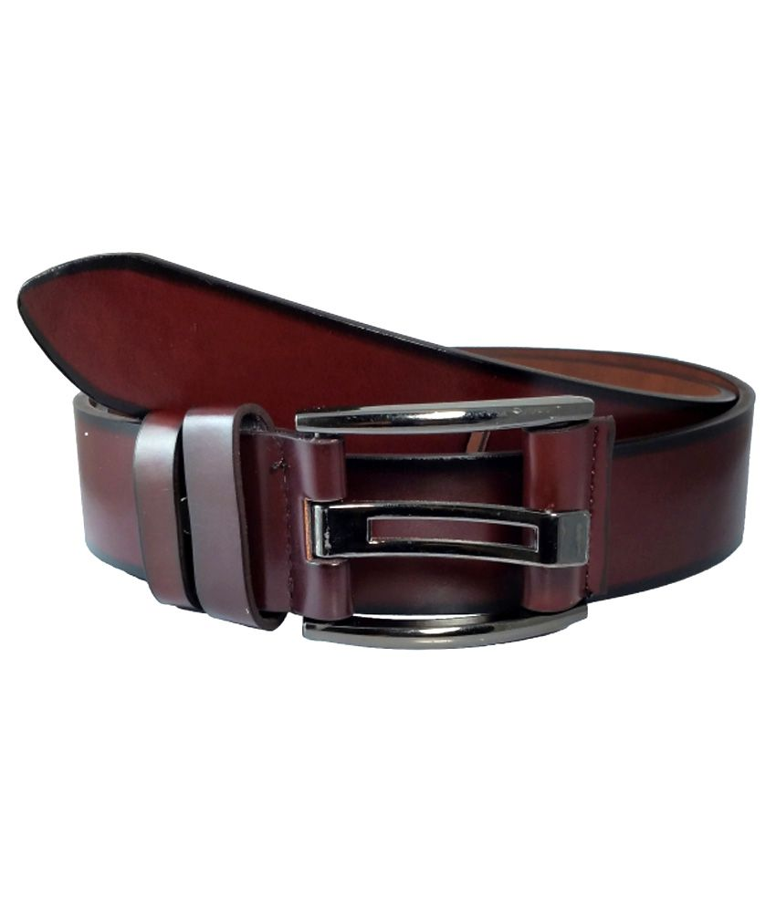 Ammvi Creations Brown PU Leather Belt For Men