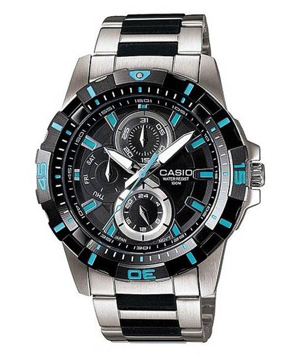 Casio A573 Blue Design Round Dial Watch