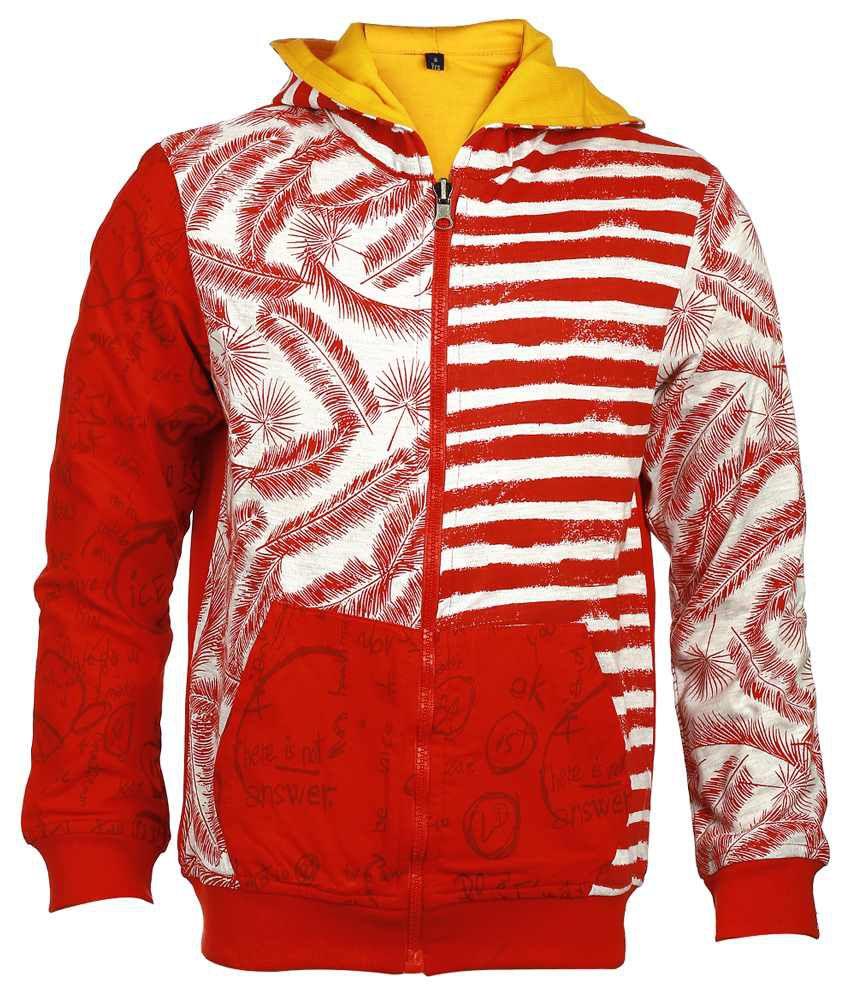 Lumberboy Red & White Reversible Jacket For Boys