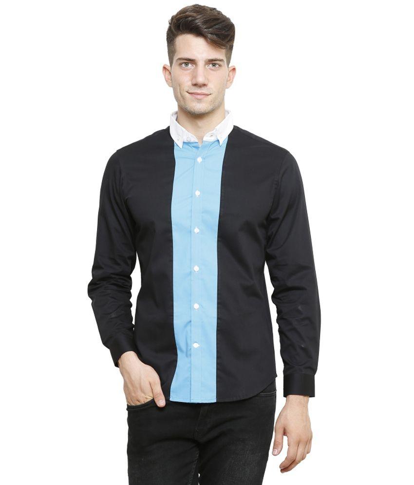 N F Clothing Black Casual Shirt