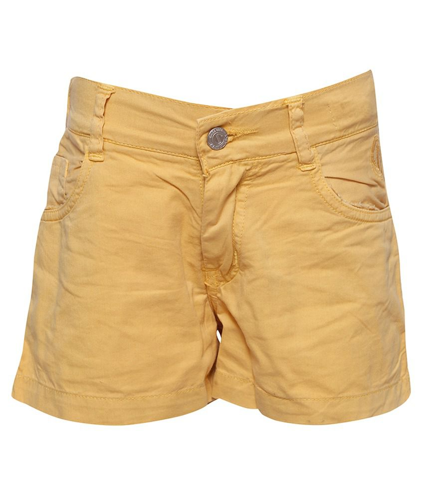 Joshua Tree Yellow Cotton Shorts