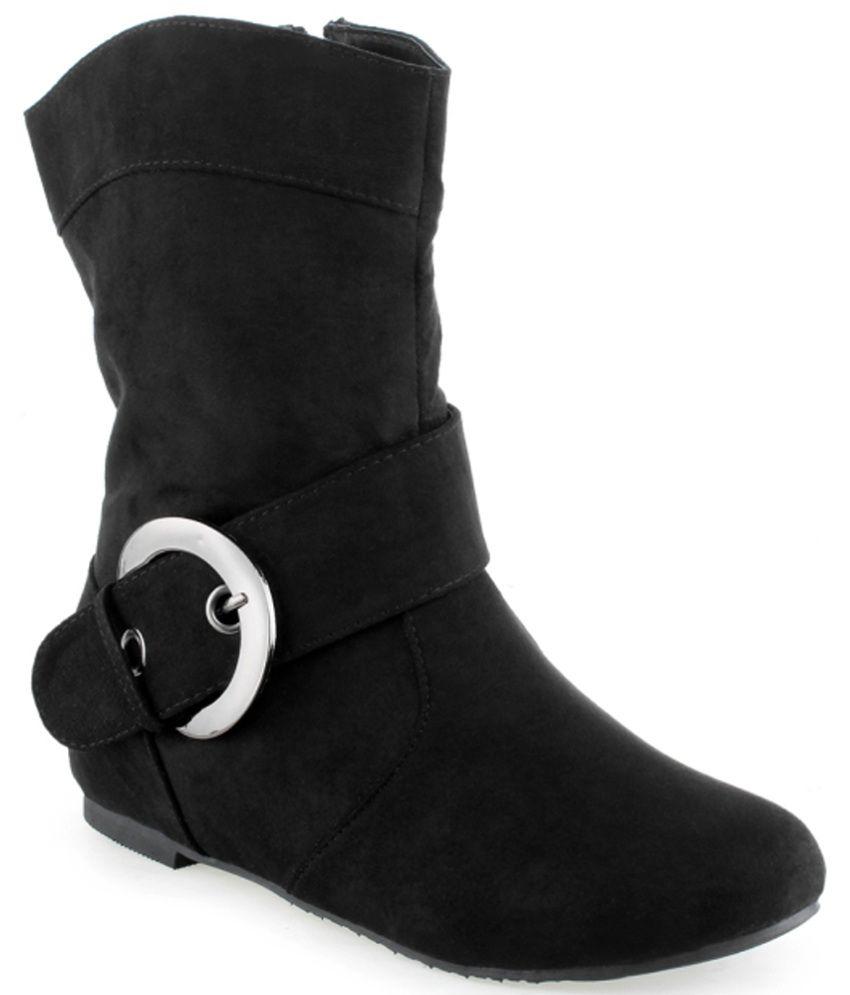 Shuz Touch Trendy Black Boots