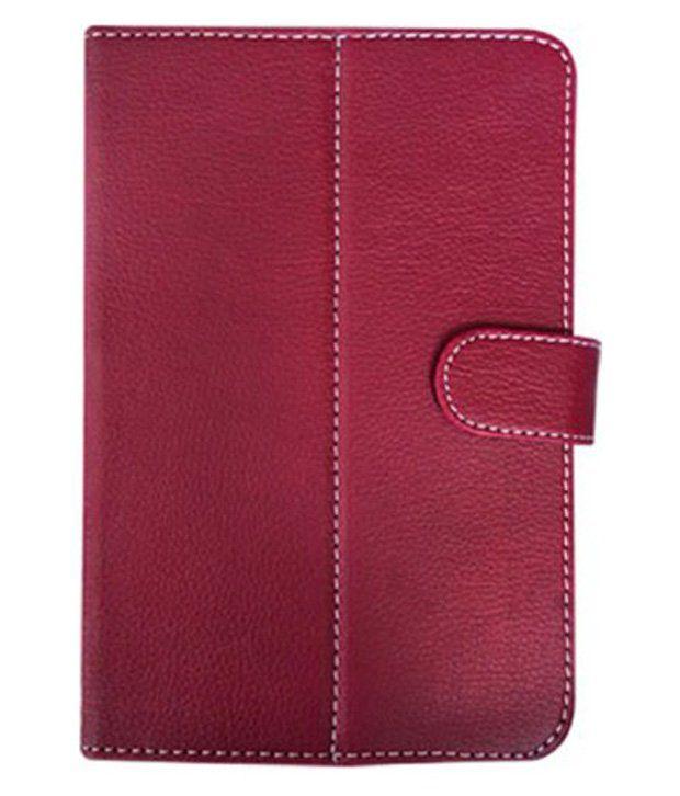 Vps Flip Cover For Celkon Ct910+ - Red