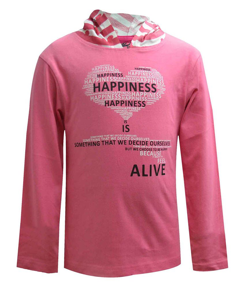 Blueriver Pink Hooded Sweatshirt For Girls