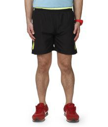 Abloom Black Polyester Shorts