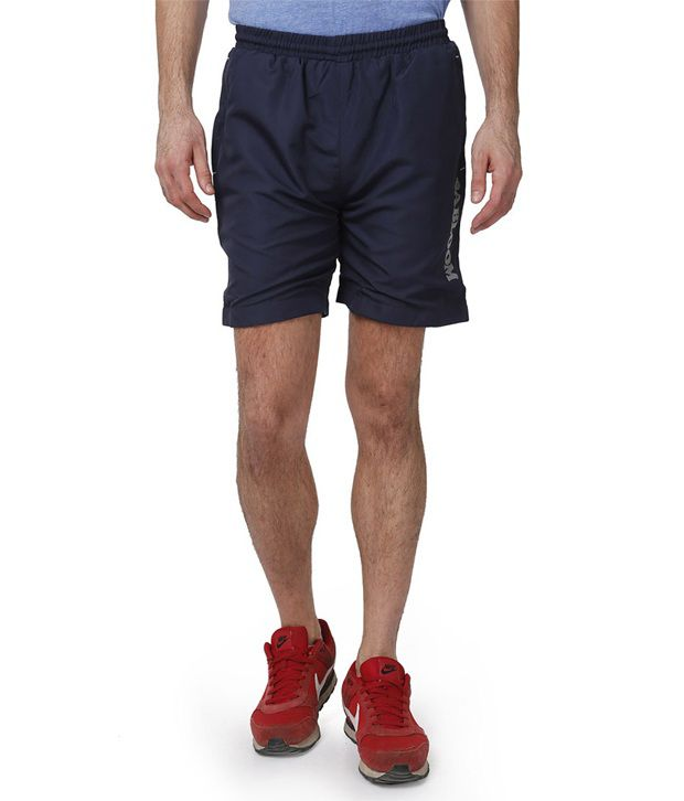 Abloom Navy Polyester Shorts