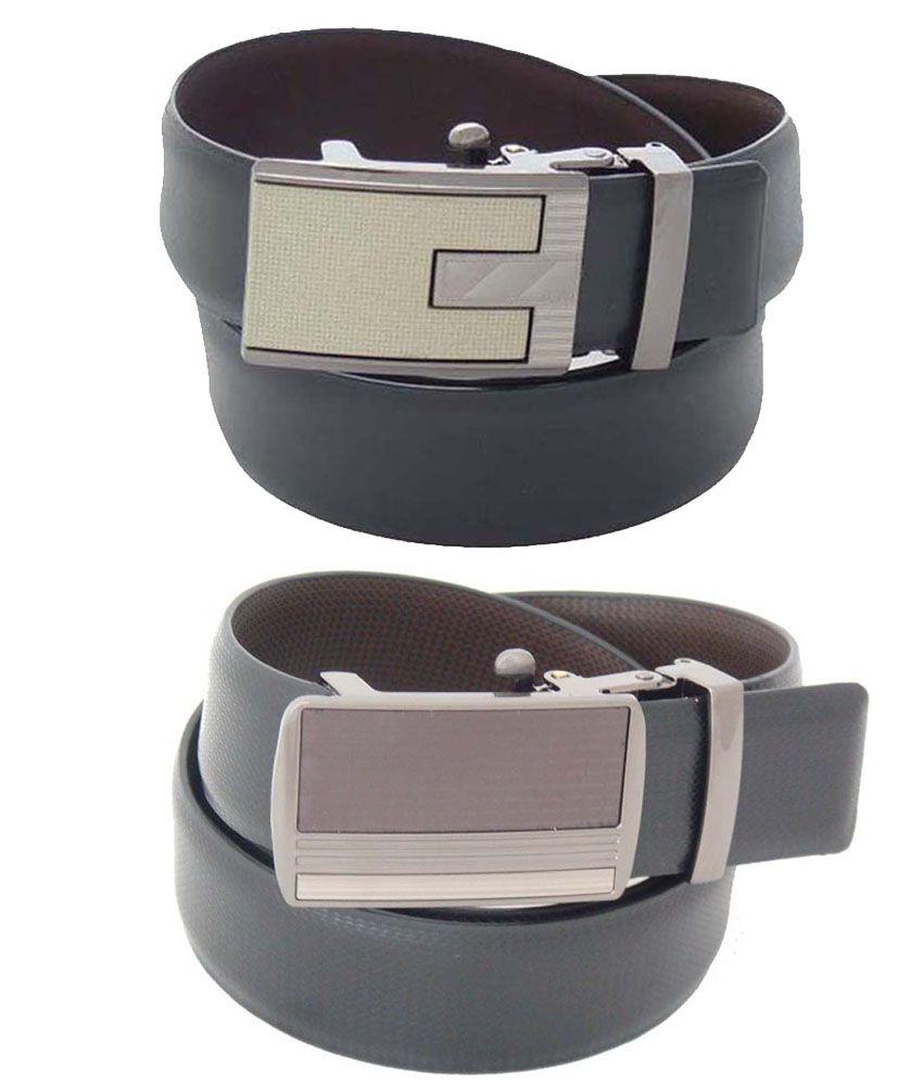 SFA Black & Brown Reversible Belt For Men - Combo Of 2