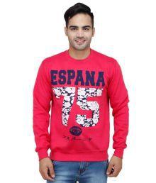 Trendy Bandey Pink Fleece Round Neck Sweatshirt