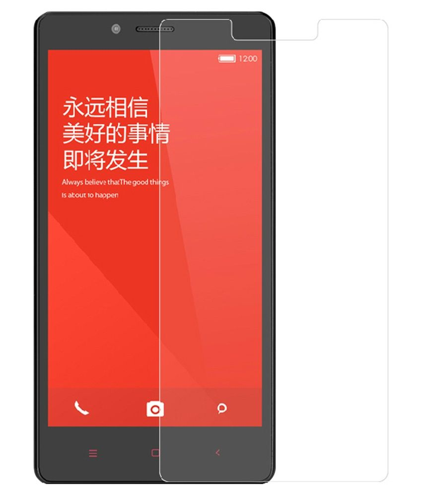 Feather International Tempered Glass Screen Guard For Xiaomi Redmi Note 4G