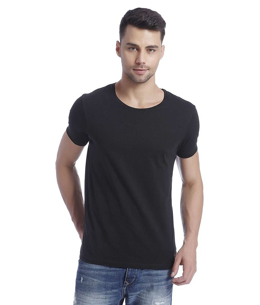 Jack & Jones Black Half Sleeves T-Shirt