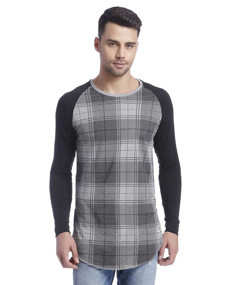 Jack & Jones Grey Full Sleeves T-Shirt