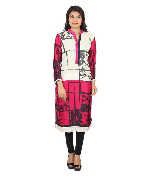 Felicity Design felicity design white poly rayon kurti buy felicity design white