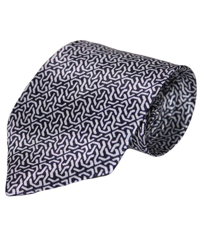 Multibrand Grey Silk Casual Tie