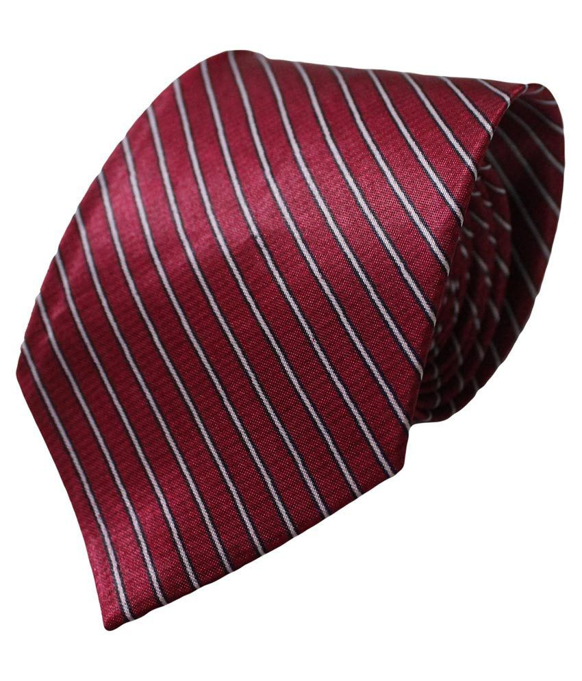 Multibrand Maroon Silk Casual Tie