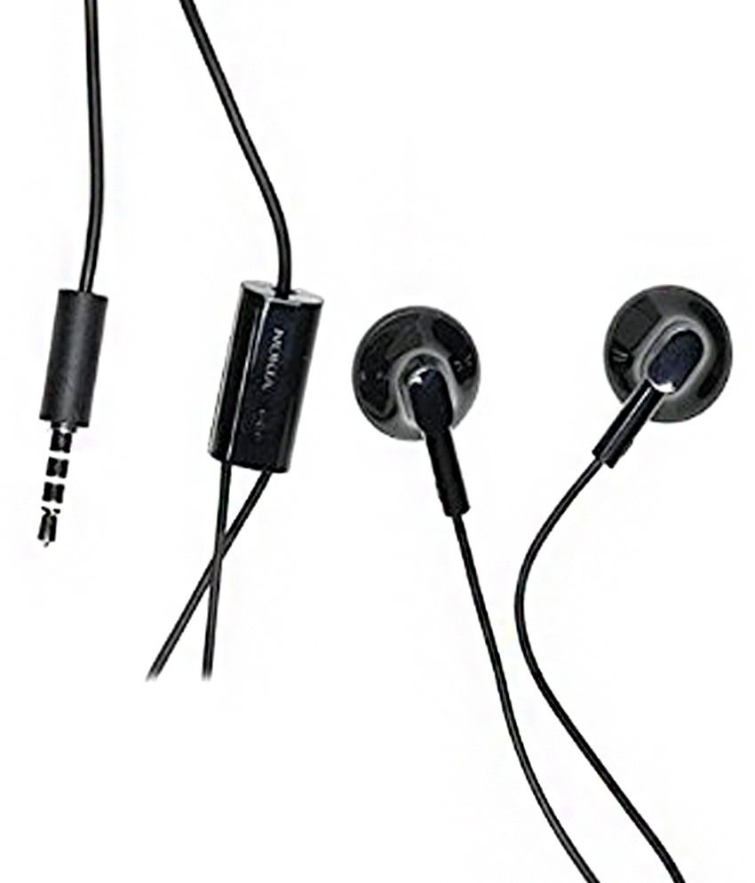 32ef2e68aa3 Nokia Wh-108 Earbuds Wired Earphones With Mic Black (Without Mic Button) Earbuds  Ear buds - Buy Nokia Wh-108 Earbuds Wired Earphones With Mic Black (Without  ...