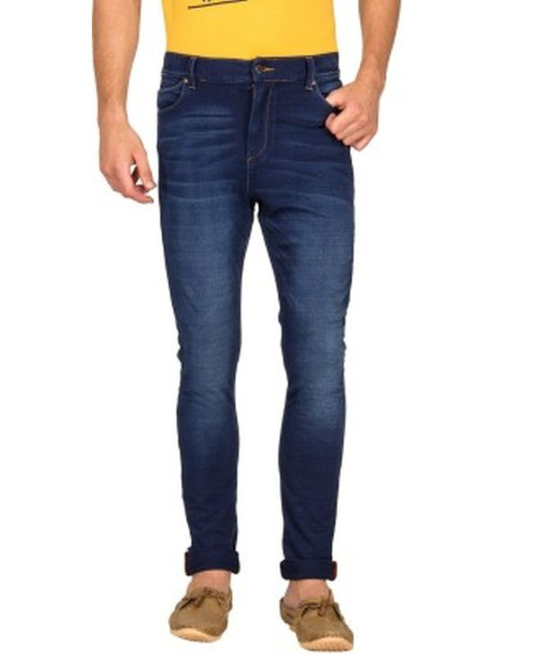 Blue Saint Navy Cotton Slim Fit Jeans