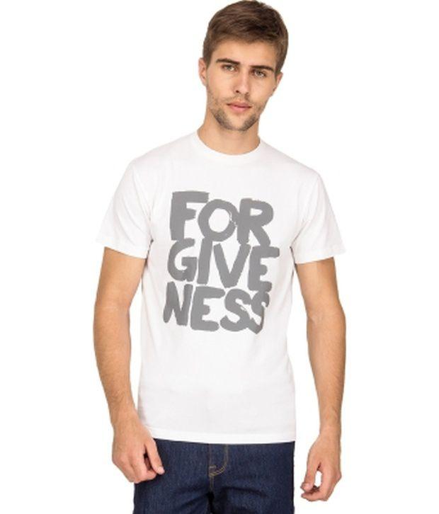 Blue Saint White Cotton T-shirt