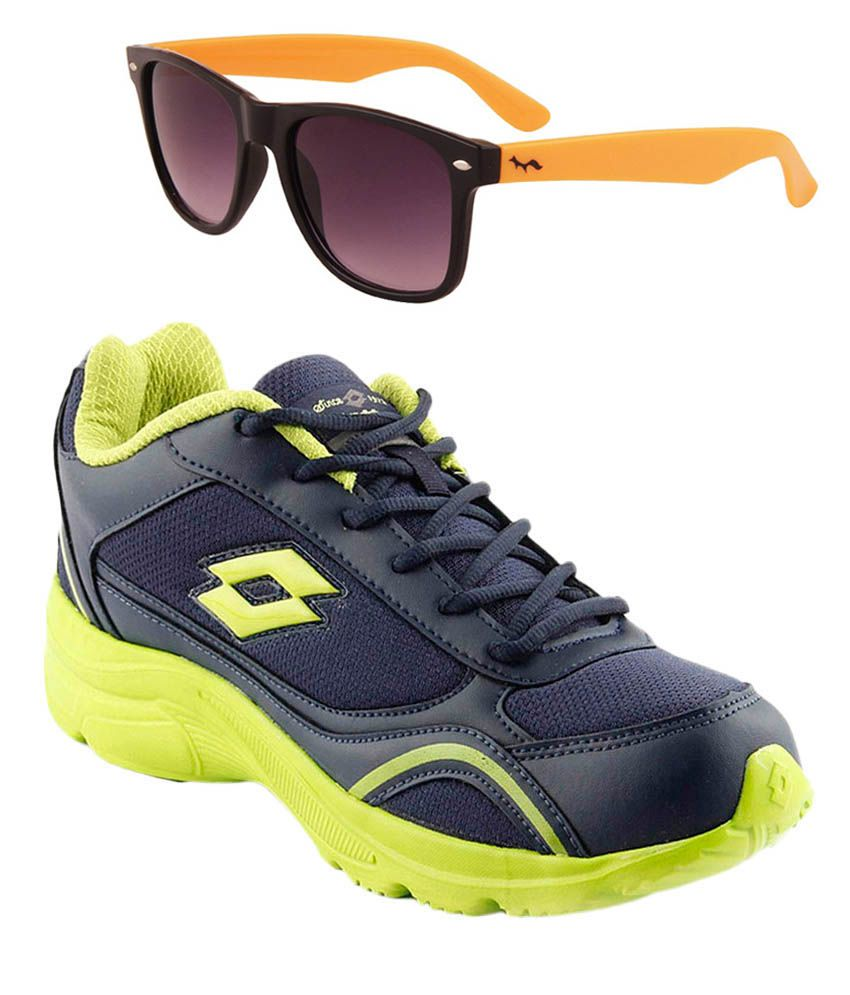 Unbox Diwali!! 40-80% Off On Sports Shoes- Puma| Reebok & More  By Snapdeal | Lotto Navy Sport Shoes With Fastfox Wayfarer Sunglassses @ Rs.1,019