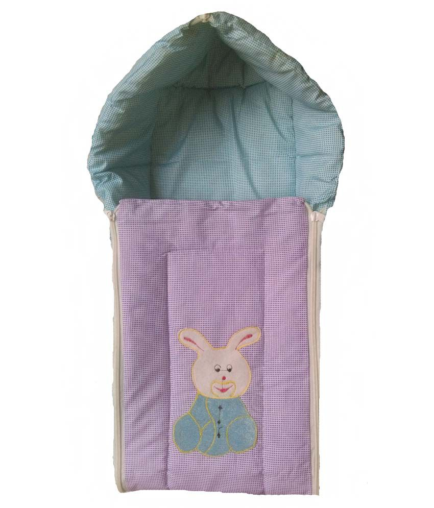 Udak Blue And Purple Cotton Sleeping Bag