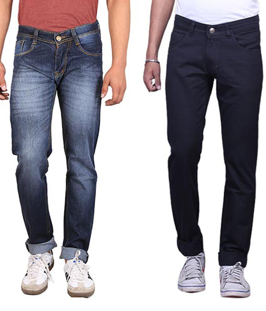 X-Cross Pack of 2 Slim Fit Jeans