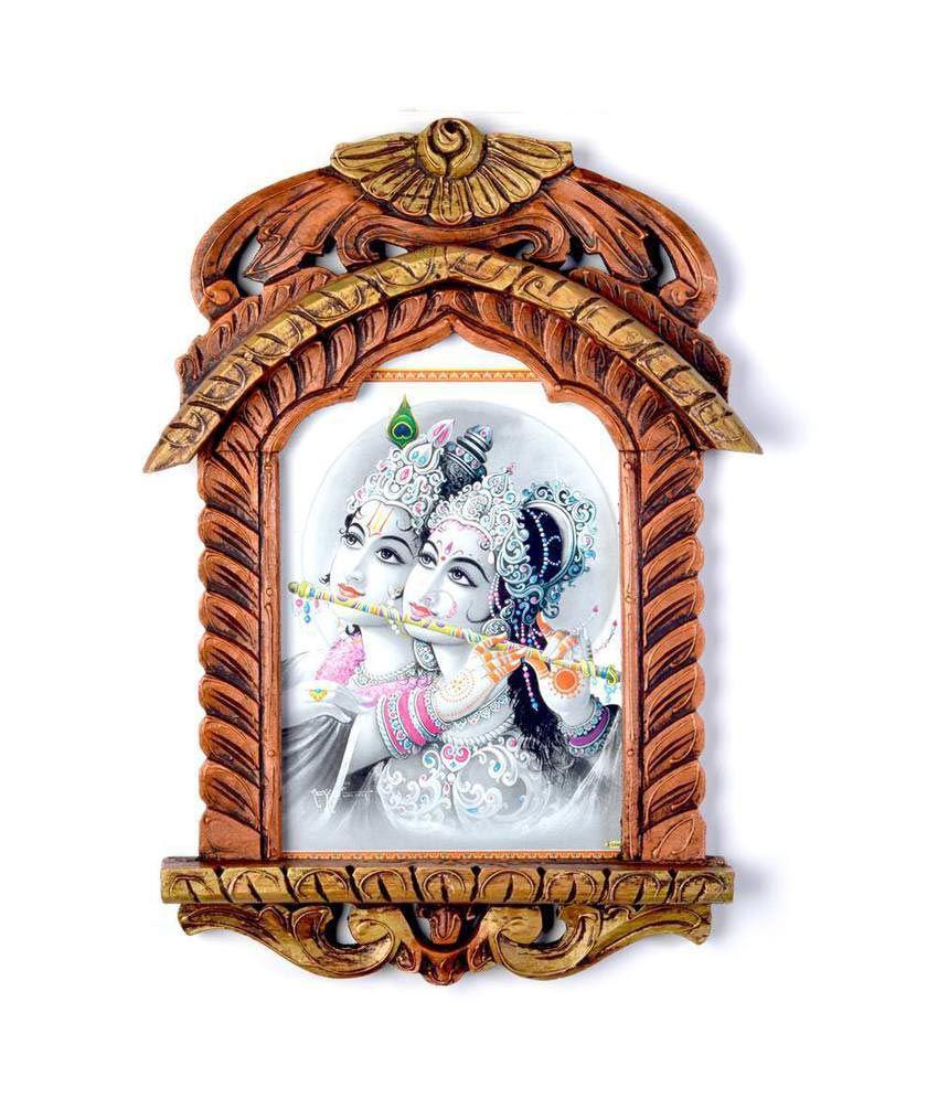 Kiran Udyog Brown Wooden Jharokha Religious Painting