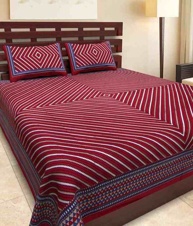 Kismat Collection Exclusive New Styliner Jaipuri Double Bed Cover With 2 Pillow Cover