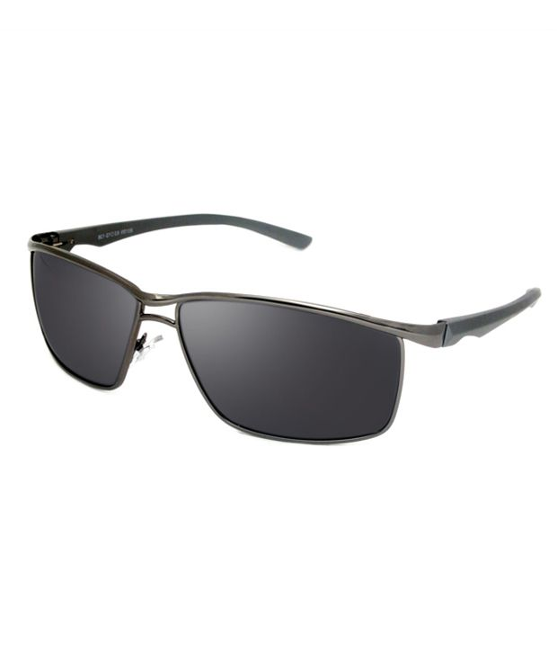 b92d3886a30c Macv Eyewear Black Rectangle Sunglasses - Buy Macv Eyewear Black Rectangle Sunglasses  Online at Low Price - Snapdeal