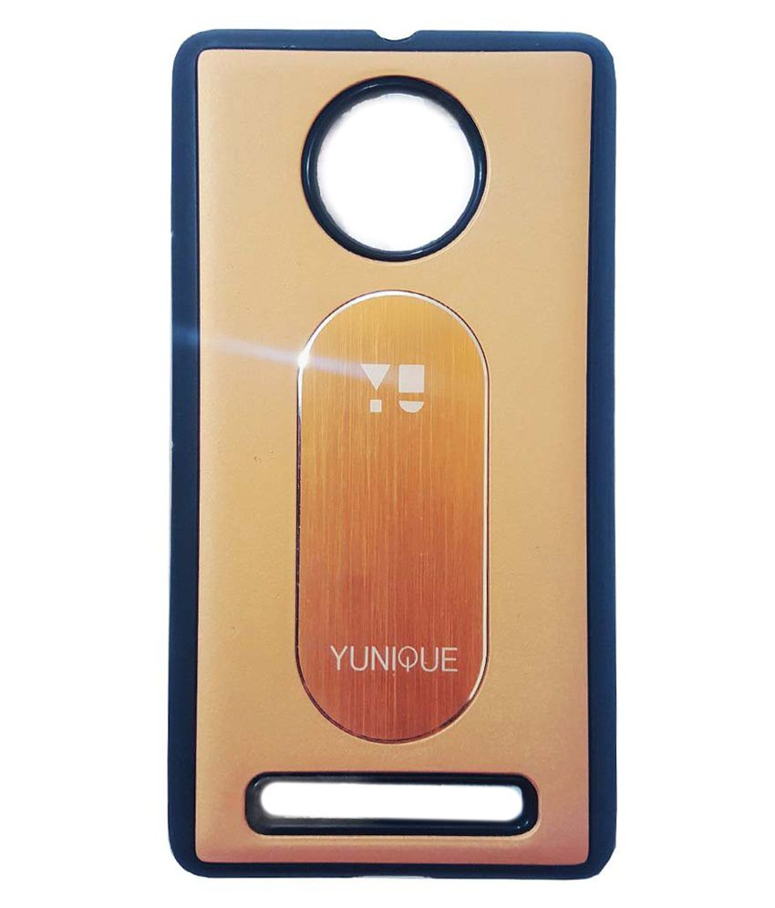 newest bd76f 42ac0 Style Case Back Cover for Micromax Yu Yunique Yu 4711 - Golden ...