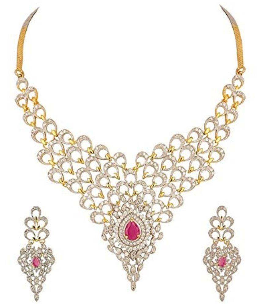 pin latest uncut jewellery page designs jewelry diamond necklace indian of
