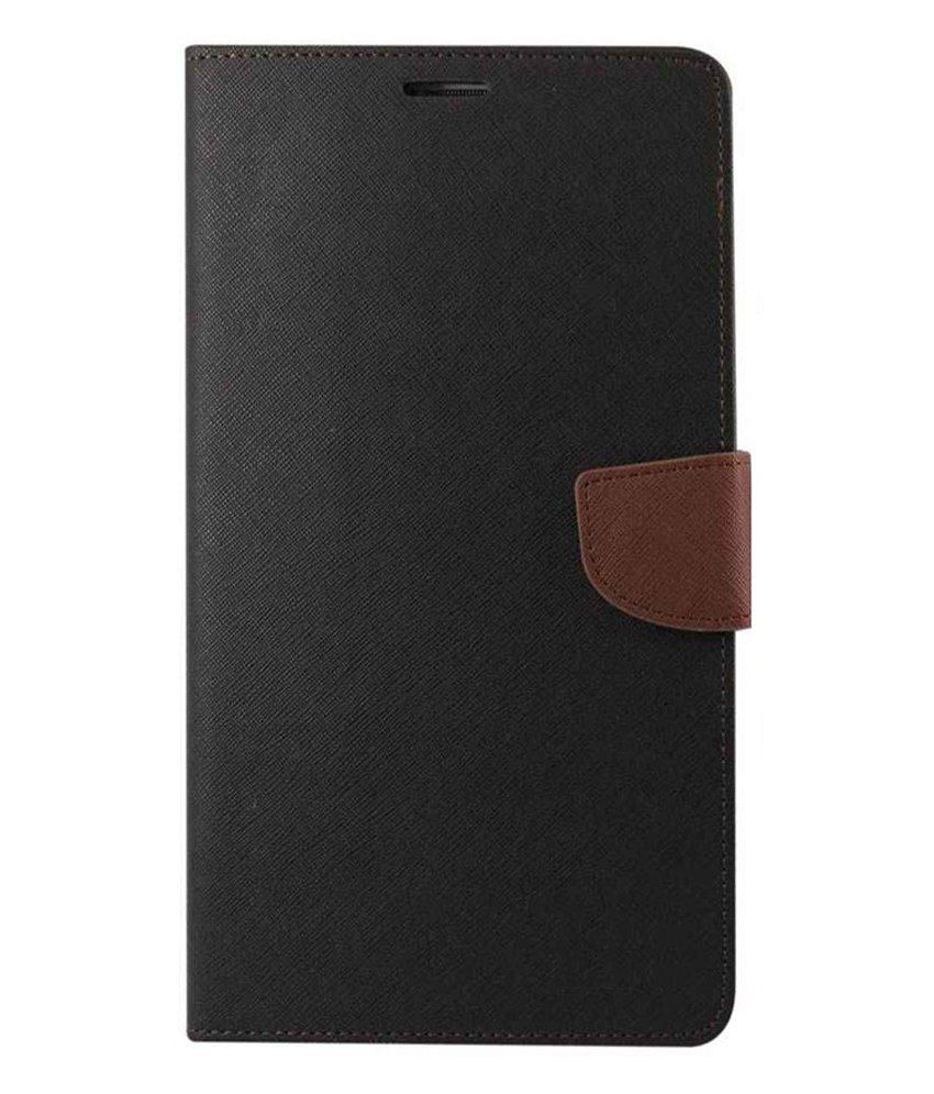 Celphy Flip Cover for Samsung Galaxy J2 - Brown