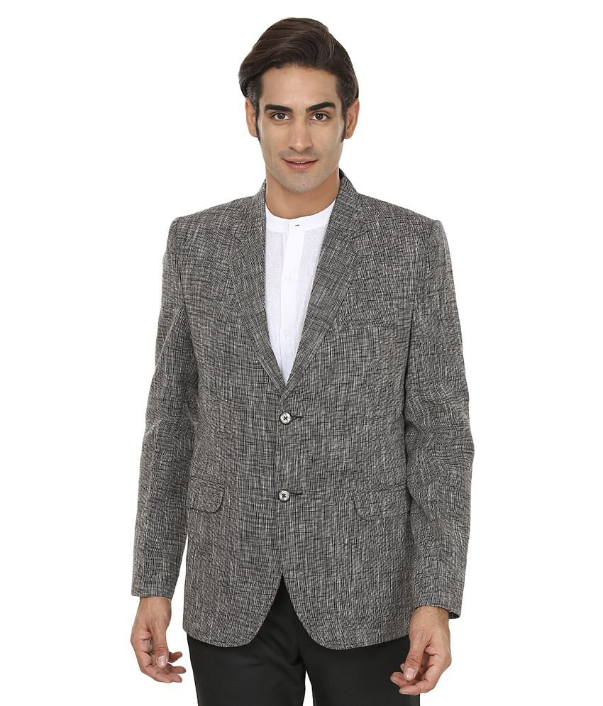 Wintage Grey Linen Blazer