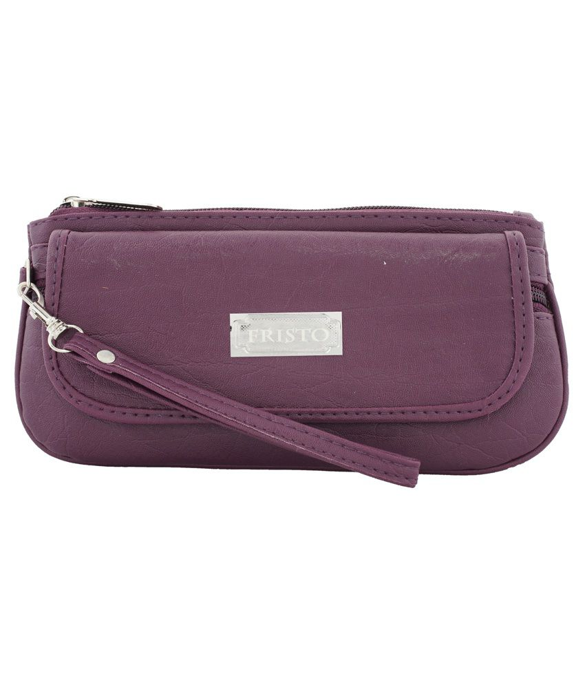 Fristo Non Leather Purple Wallet for Women