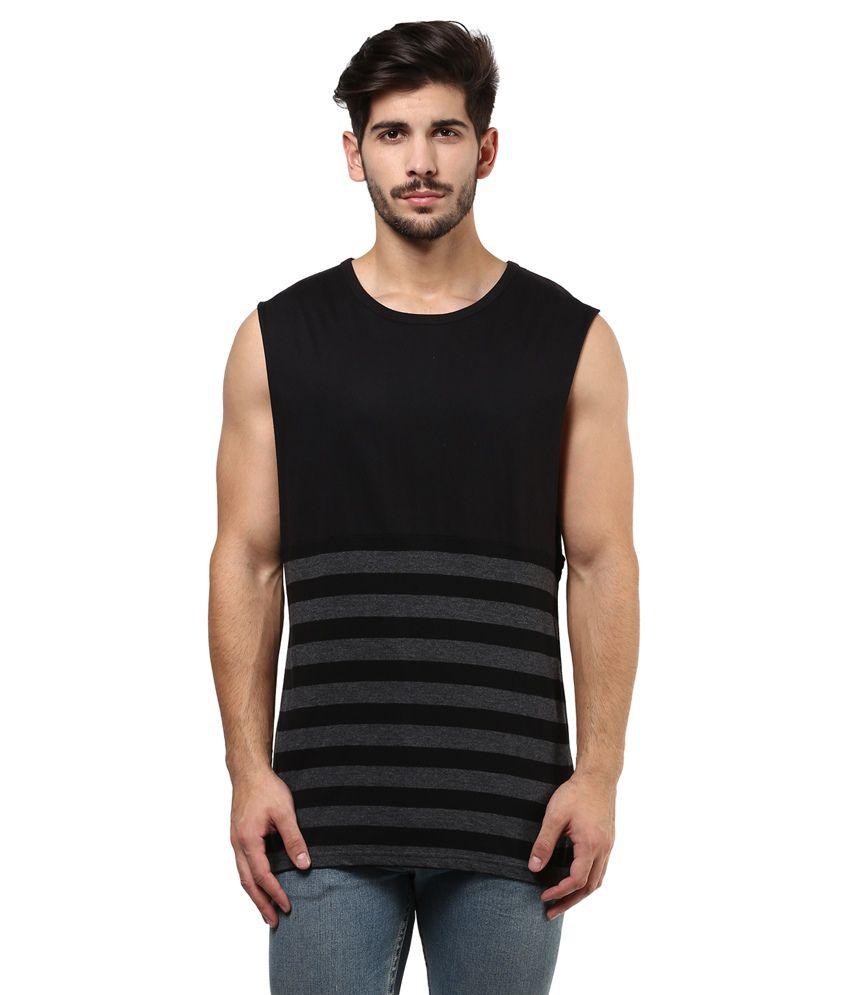 Hypernation Black Cotton T- Shirt